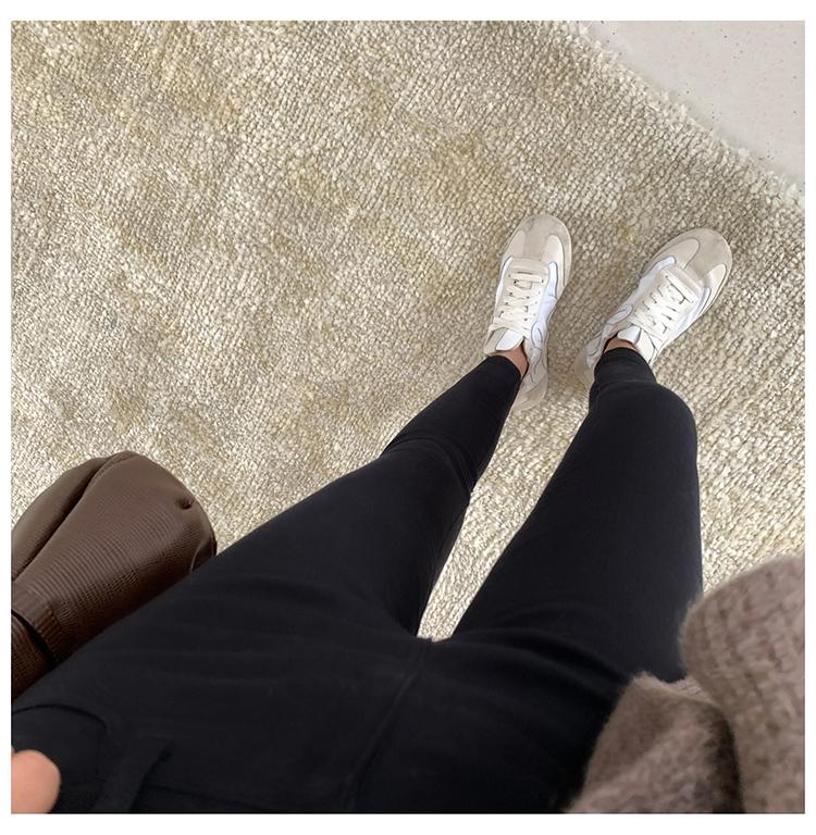 FFAN泛泛 火山岩牛仔裤女2019秋冬铅笔裤休闲小黑裤详情图