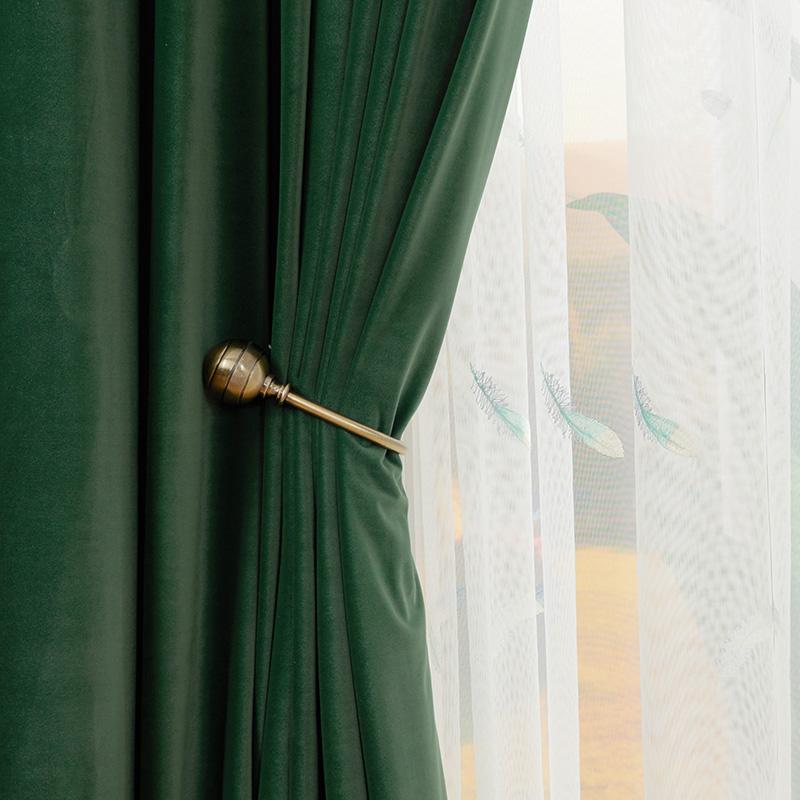 中國代購 中國批發-ibuy99 进口新款凸窗植绒荡度绒别墅洋房加厚遮光绒现代美式百搭布料窗帘