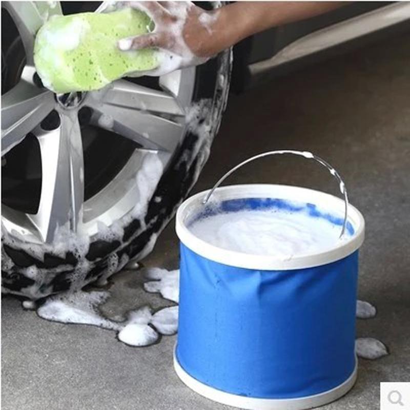 Xe xách tay gấp thùng làm sạch xe ô tô cung cấp rửa xe xô câu cá xô lưu trữ xô miễn phí vận chuyển - Sản phẩm làm sạch xe