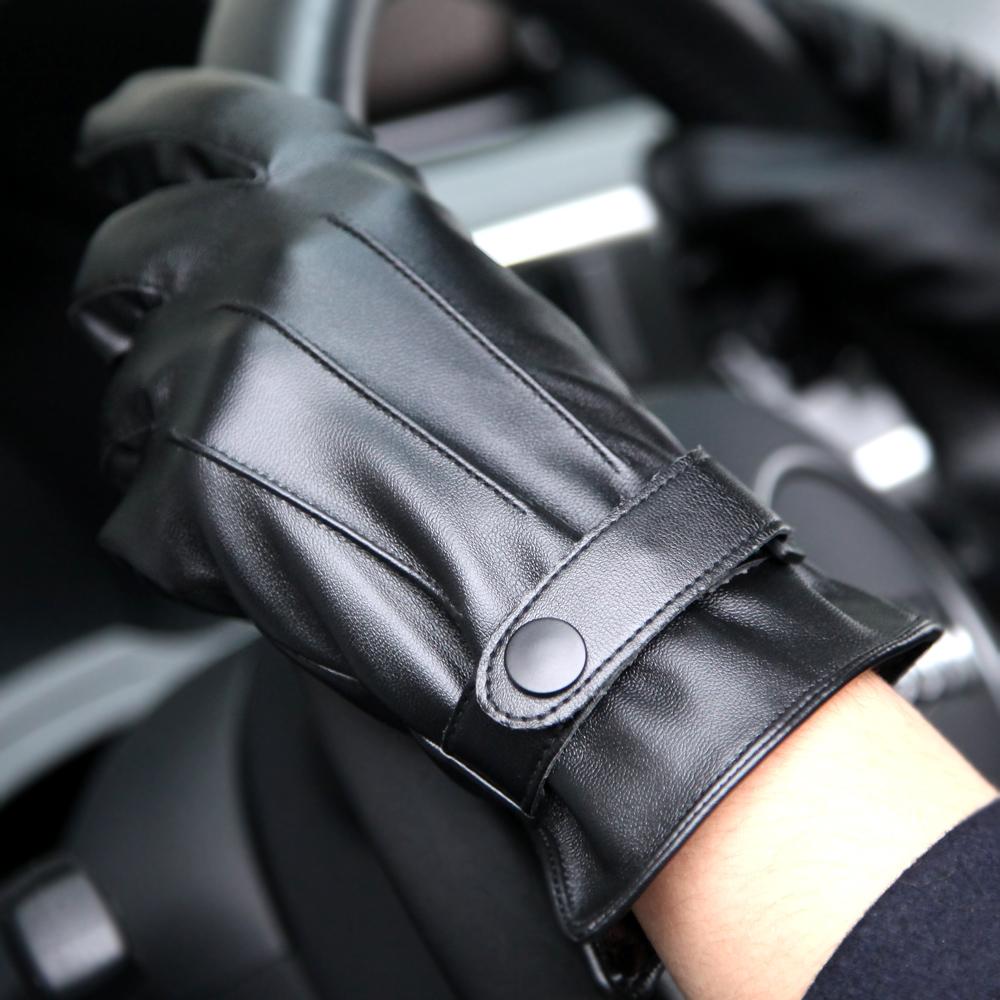 皮手套男士秋冬季保暖加绒加厚PU皮手套防风骑行摩托车学生韩版