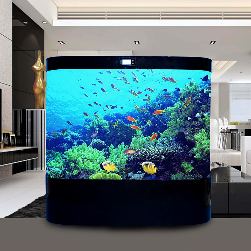 European Goldfish Aquarium Aquarium Living Room 1 M 1 2 M Super White Large  Glass Aquarium ...