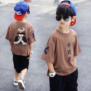 男童2019新款夏装套装休闲运动中大童夏季儿童短袖两件套