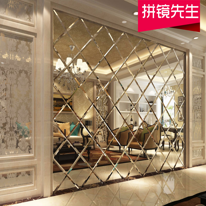 Пользовательские декоративные огни арт-арт зеркало ТВ-столовая и телевизионный ресторан черный Золотой чай зеркало серебро зеркало серый зеркало сын