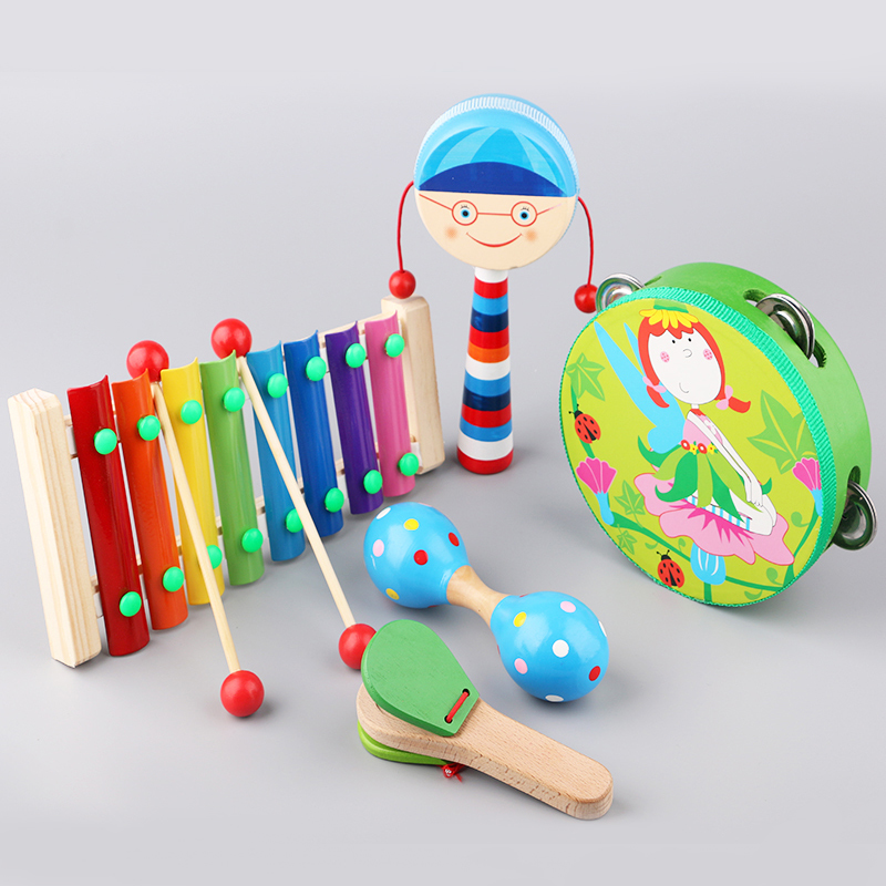 Usd 17 81 Wooden Cortical Rattle Baby Tambourine Toys Newborn Baby