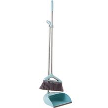 宝优妮扫把簸箕套装家用带刮齿软毛扫地