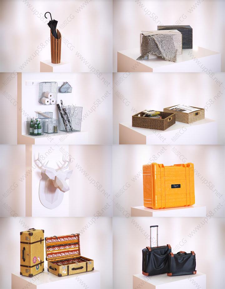 3dmax VRay室内装饰设计家电挂件饰品摆件精细3D模型素材集