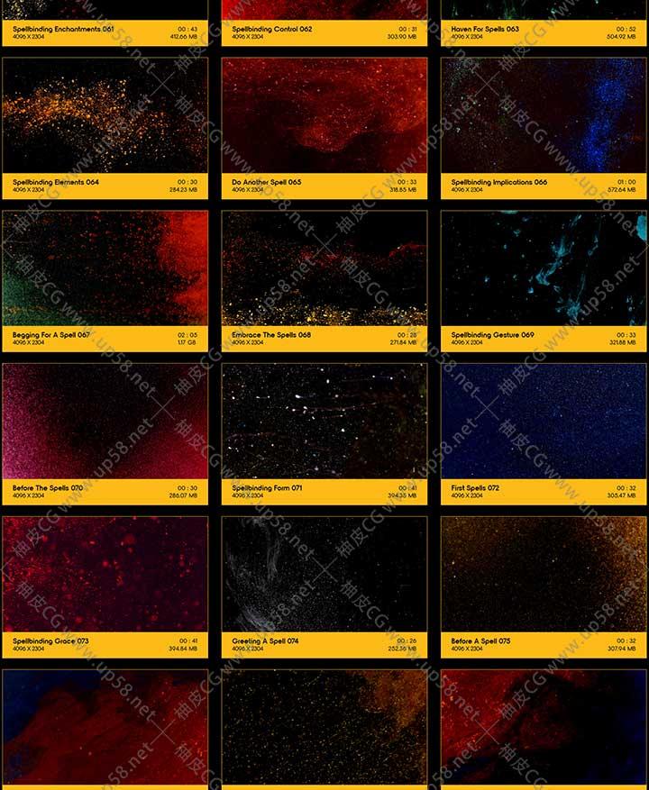 91个超级动感微粒子云颗粒烟雾扩散运动 4K高清镜头叠加视频素材