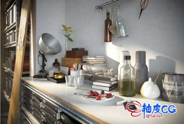 3DSMAX书籍器皿盆栽衣帽箱包台灯精细3D模型