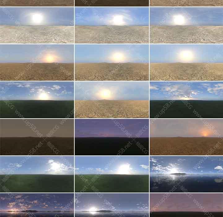 360/720度全景VRay keyshot 3dmax C4D HDR环境照明贴图素材库