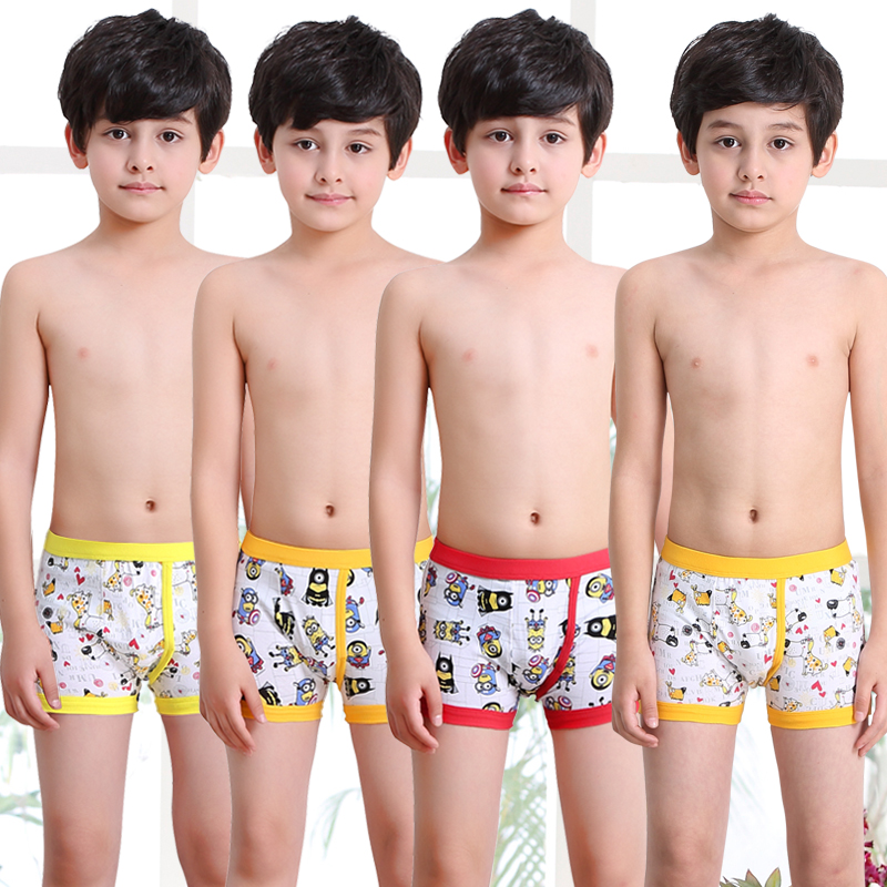 Boys underwear flat angle children's underwear cotton in the Big Boy Boys Children pupils teen shorts Square Pants