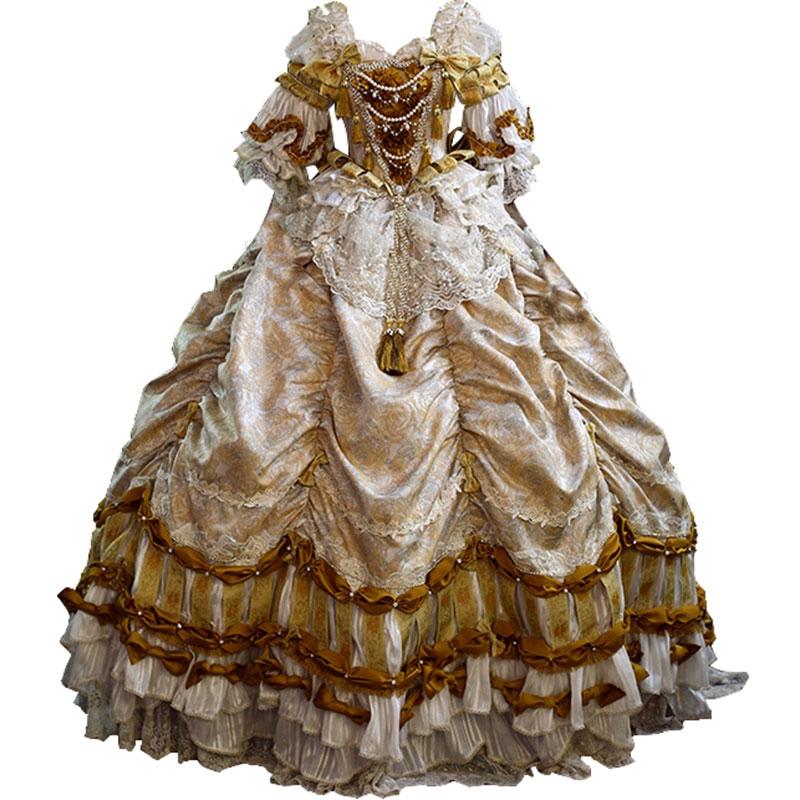 古典玩偶野兽新娘lolita连衣裙婚纱