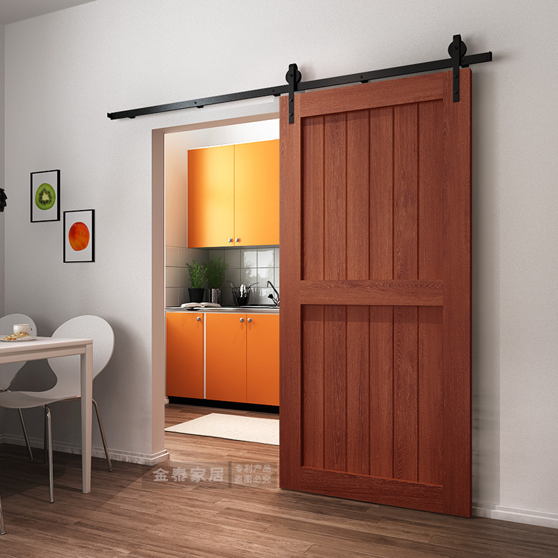 Usd 11490 Solid Wood Barn Door Kitchen Hanging Door Sliding Door