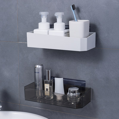 Punch-free toilet rack wall hanging toilet vanity kitchen toilet wall suction type bathroom storage box rack