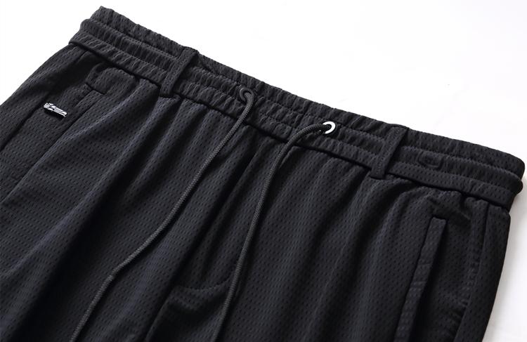 Mùa hè rỗng lưới thông gió, thoáng khí, mát mẻ điều hòa không khí quần, đàn hồi thể thao quần, đàn hồi eo, quần âu, quần