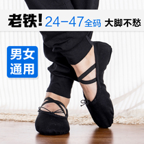 Mens Special dance shoes male adult soft bottom practice shoes big code Body Shoes