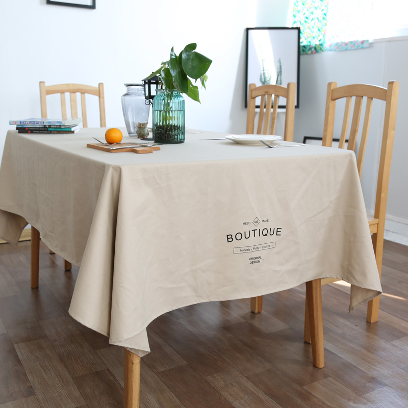 Pleasant Nordic Tablecloth Cotton Simple Modern Table Table Cloth Solid Color Fabric Rectangular American Table Cover Towel Download Free Architecture Designs Scobabritishbridgeorg