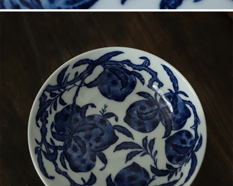 Customized offered home - cooked in private lines tao killings jingdezhen blue and white lie the foot bowl hand for ceramic bowl