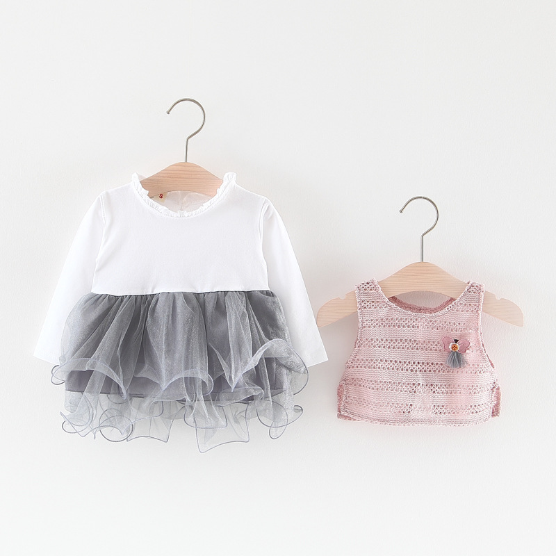 6ebf90d7d Baby long-sleeved dress spring and autumn models girls cotton ...