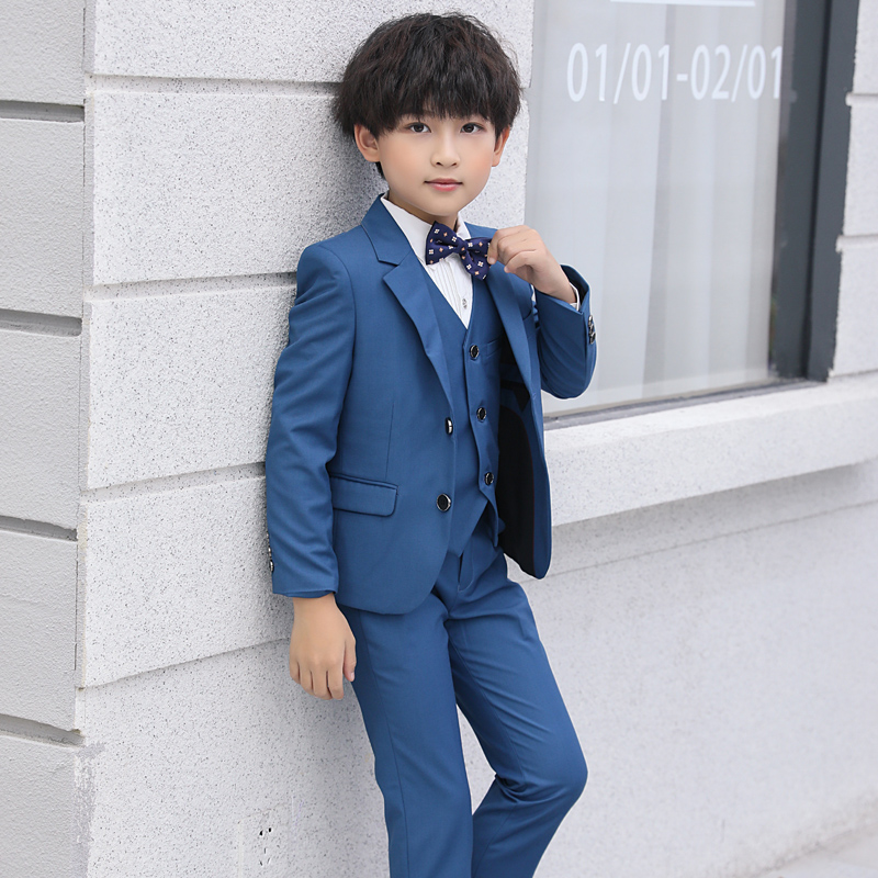 Lake Blue (suit + Vest + Shirt + Pants + Bow Tie)