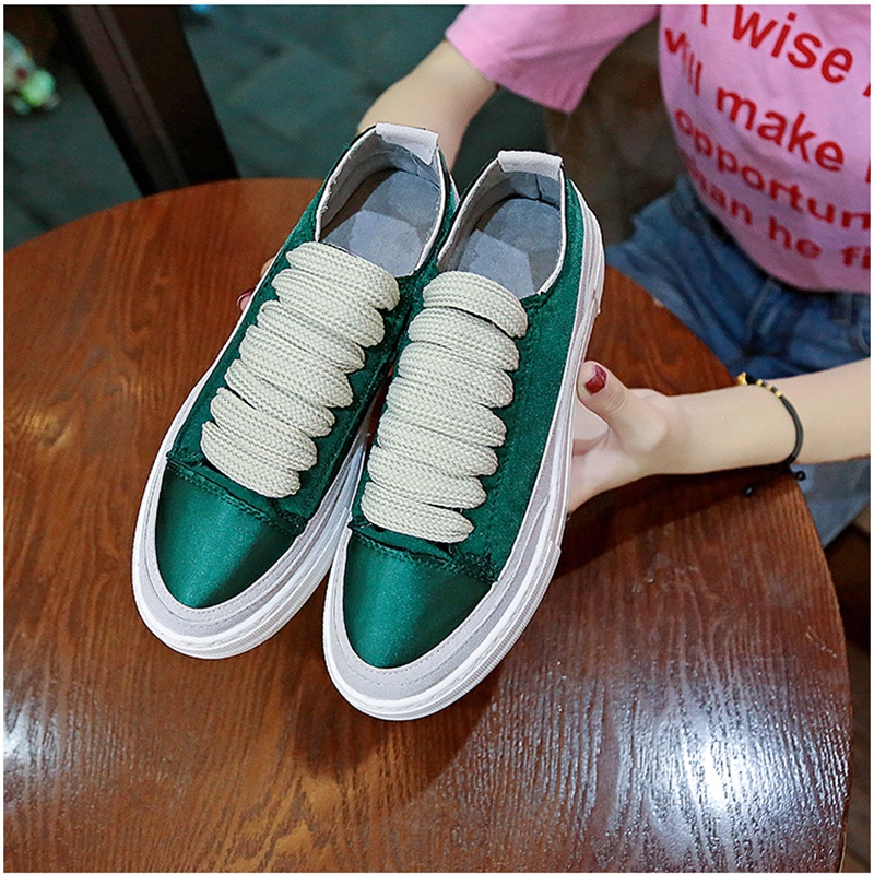 XWWDVV Spain niche shoes casual versatile canvas shoes new thick bottom flat white shoes women 57