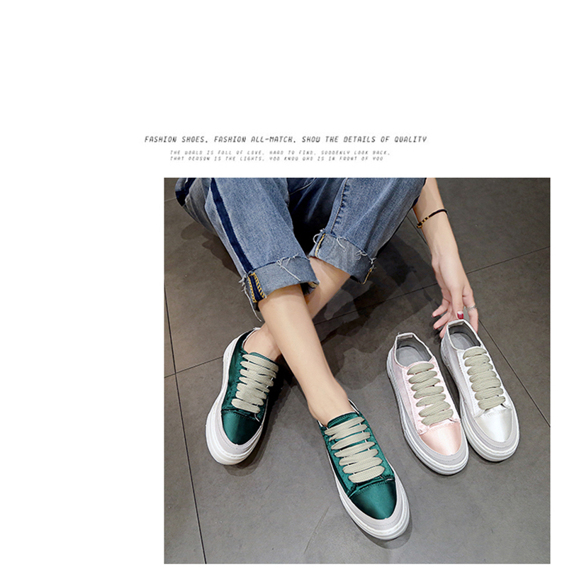 XWWDVV Spain niche shoes casual versatile canvas shoes new thick bottom flat white shoes women 46