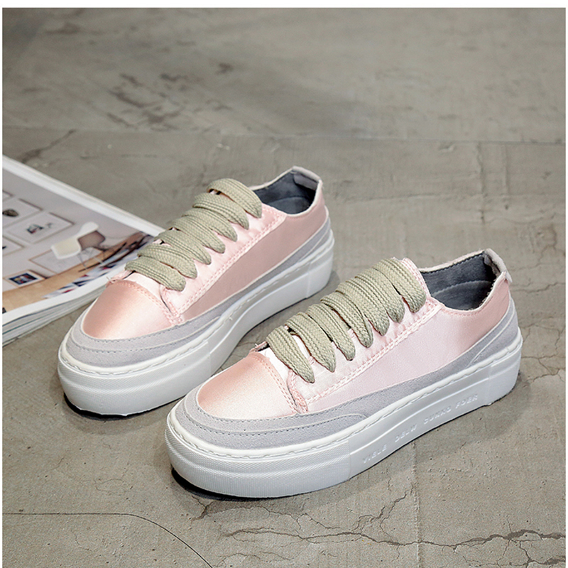 XWWDVV Spain niche shoes casual versatile canvas shoes new thick bottom flat white shoes women 62