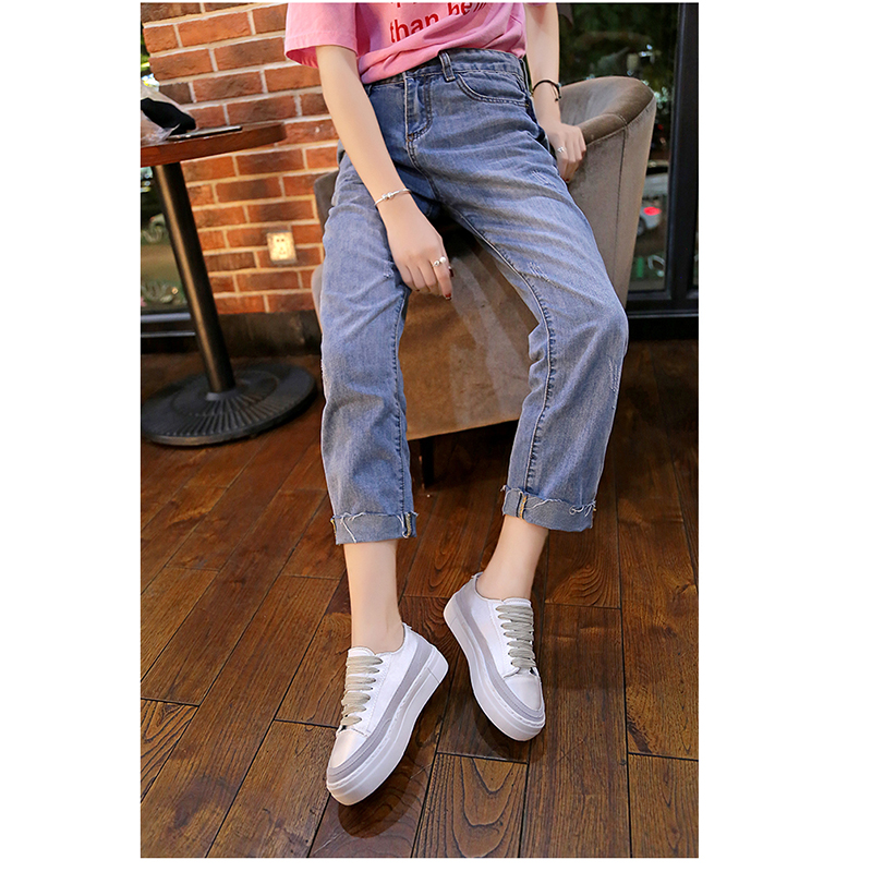 XWWDVV Spain niche shoes casual versatile canvas shoes new thick bottom flat white shoes women 51