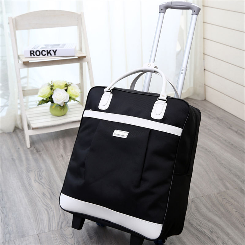 Black (white Belt) Trolley Bag (2 Rounds)