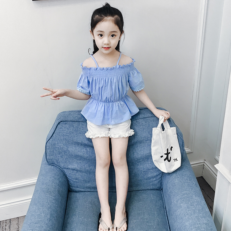 813fe1c558d Girls summer suit foreign style 2019 new fashion Korean children s  short-sleeved two-piece. Zoom · lightbox moreview · lightbox moreview ...