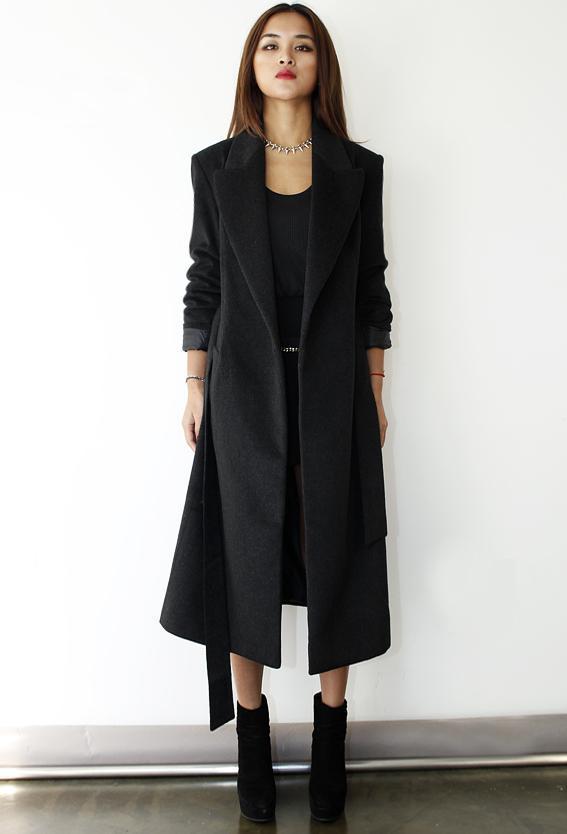 2018新款冬季欧美呢外套超长款修身羊绒大衣潮流复古毛呢外套女