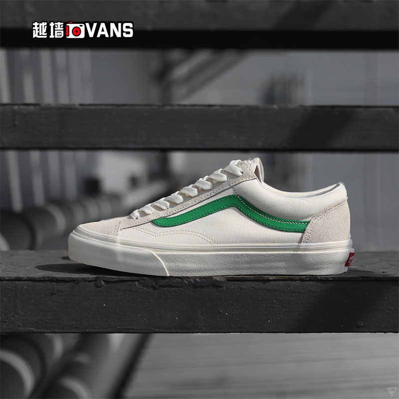 cc7cb2ffba Cross wall VANS new low STYLE36 white green pink white couple hair retro  shoes VN0A3DZ3RFX