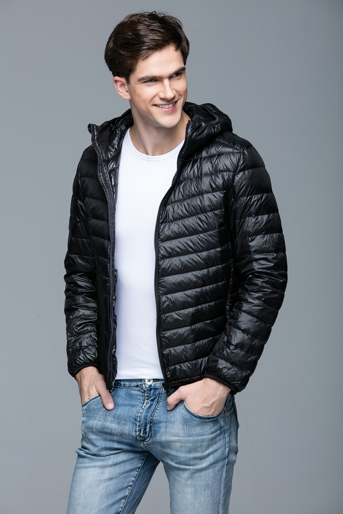 Details about Mens Ultralight Hooded Duck Down Puffer Jacket Coat Warm  Outwear Style 6e217feab