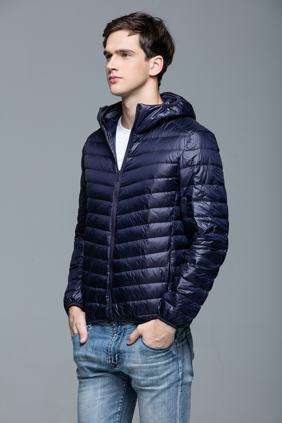 Pay Shell Credit Card >> Mens Ultralight Hooded Duck Down Puffer Jacket Coat Warm Outwear Packable Parka | eBay