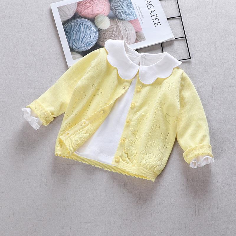 外套针织小童春秋女童针织衫开衫毛衣宝宝开衫薄款1-3岁2婴儿洋气