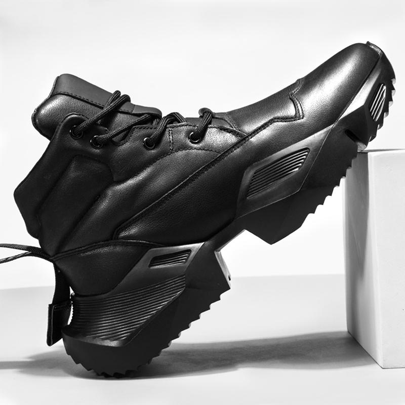 梅西秋冬高帮鞋男韩版潮流运动休闲鞋高邦板鞋子男潮鞋马丁靴