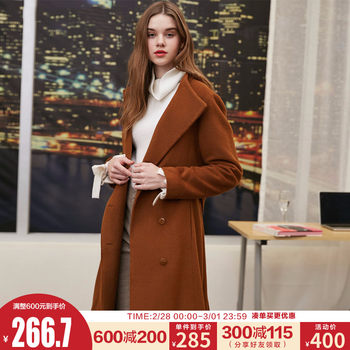[Poly] Vero Moda Spring New Small Turtleneck Long Woolen Coat Women 318327539