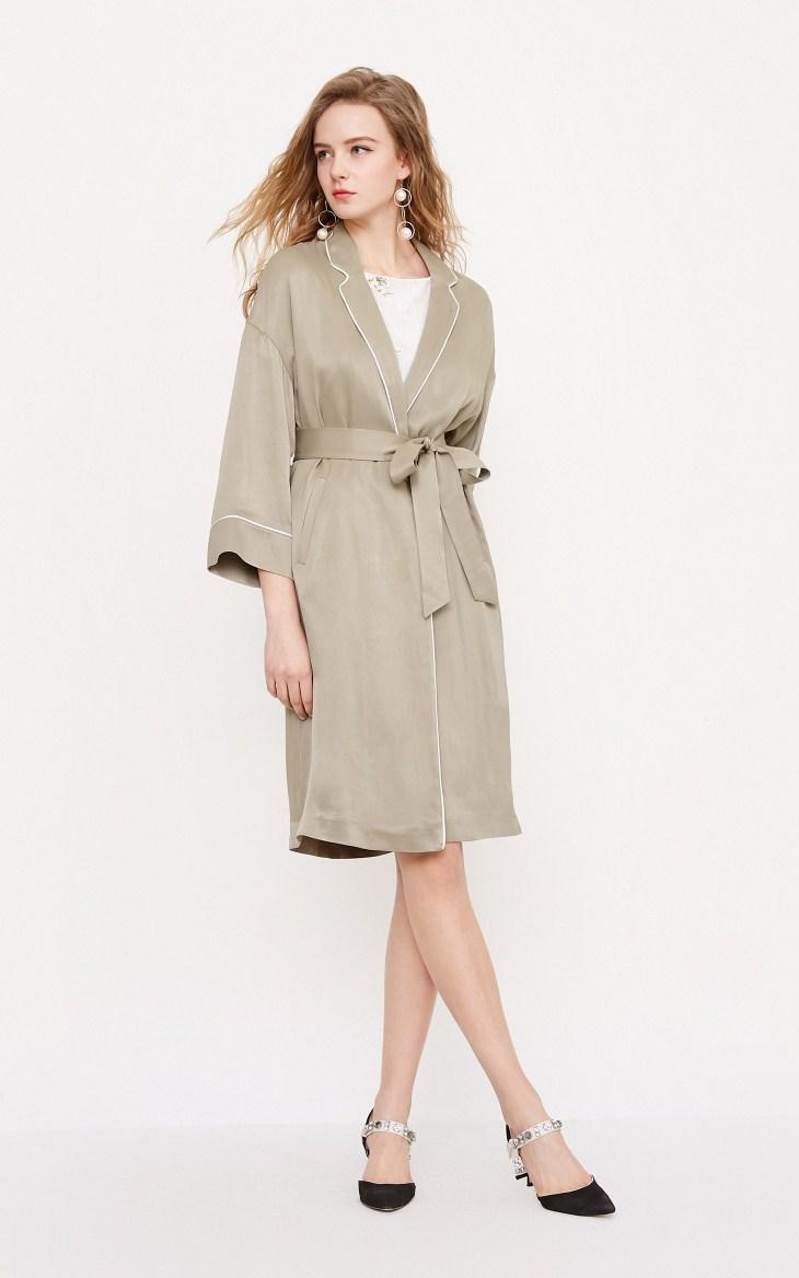 Vero Moda new embroidery fabric long coat |318221504 10