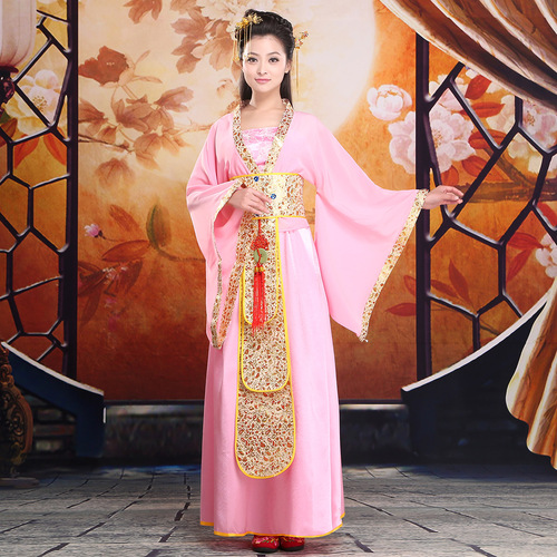 Chinese Folk Dance Dress Ancient Costume Fairy Tang costume Han Fu female Tang Dynasty Princess photo costume guzheng stage performance costume photography Costume