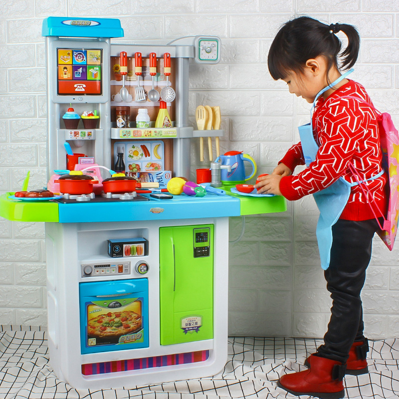 Little Ling Children Play House Simulation Kitchen Toy Set Little
