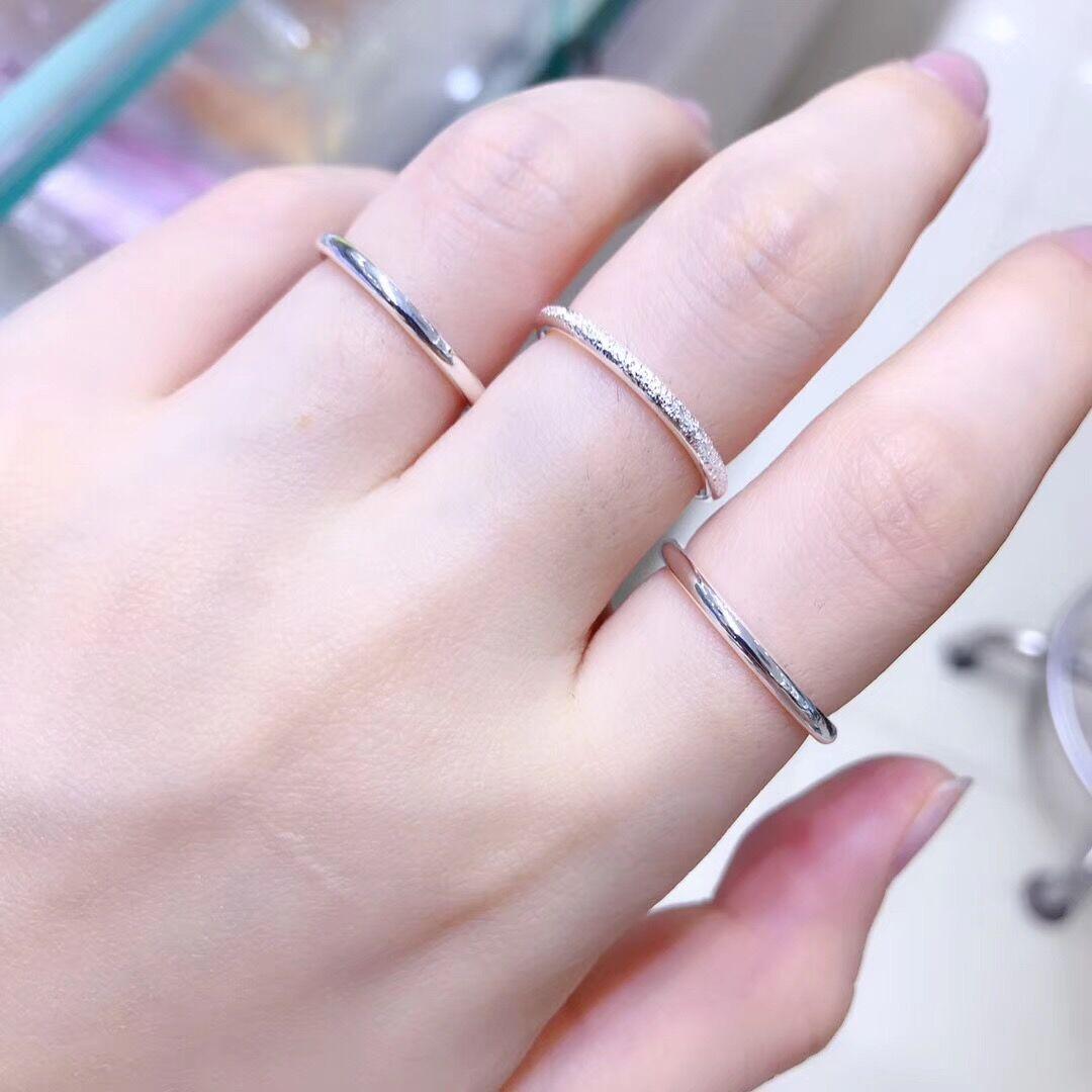 Nhẫn Red Red Lovers Nhẫn Bà Sansei III Nhẫn chính hãng Vòng tròn chính hãng Thiết kế ban đầu Quà tặng Sterling Bạc 999 - Nhẫn