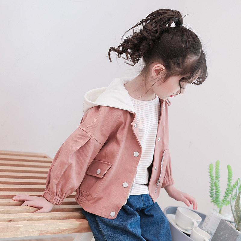 3女童外套春秋2018新款4儿童夹克5洋气6岁小女孩牛仔上衣7韩版潮8