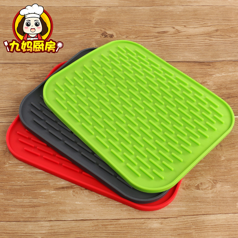 Imported Food Grade Silicone Pad Large Rectangular Thick Anti Hot Mat Kitchen Home Non
