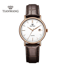 Tianwang watch genuine ladies belt watch simple casual quartz female watch vibrato with the same paragraph to send girls gifts 3874