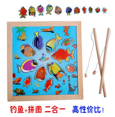 Детские Магнитная игра Рыбалка на котенка детские Монтессори, раннее образование, учебные пособия, развивающие игрушки