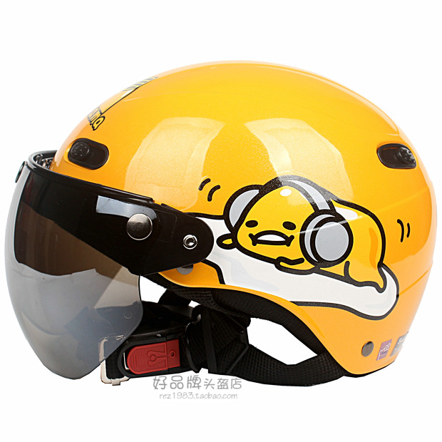 Taiwan EVO egg yolk brother 3 yellow electric Harley motorcycle helmet helmet men and women sun shield UV four summer