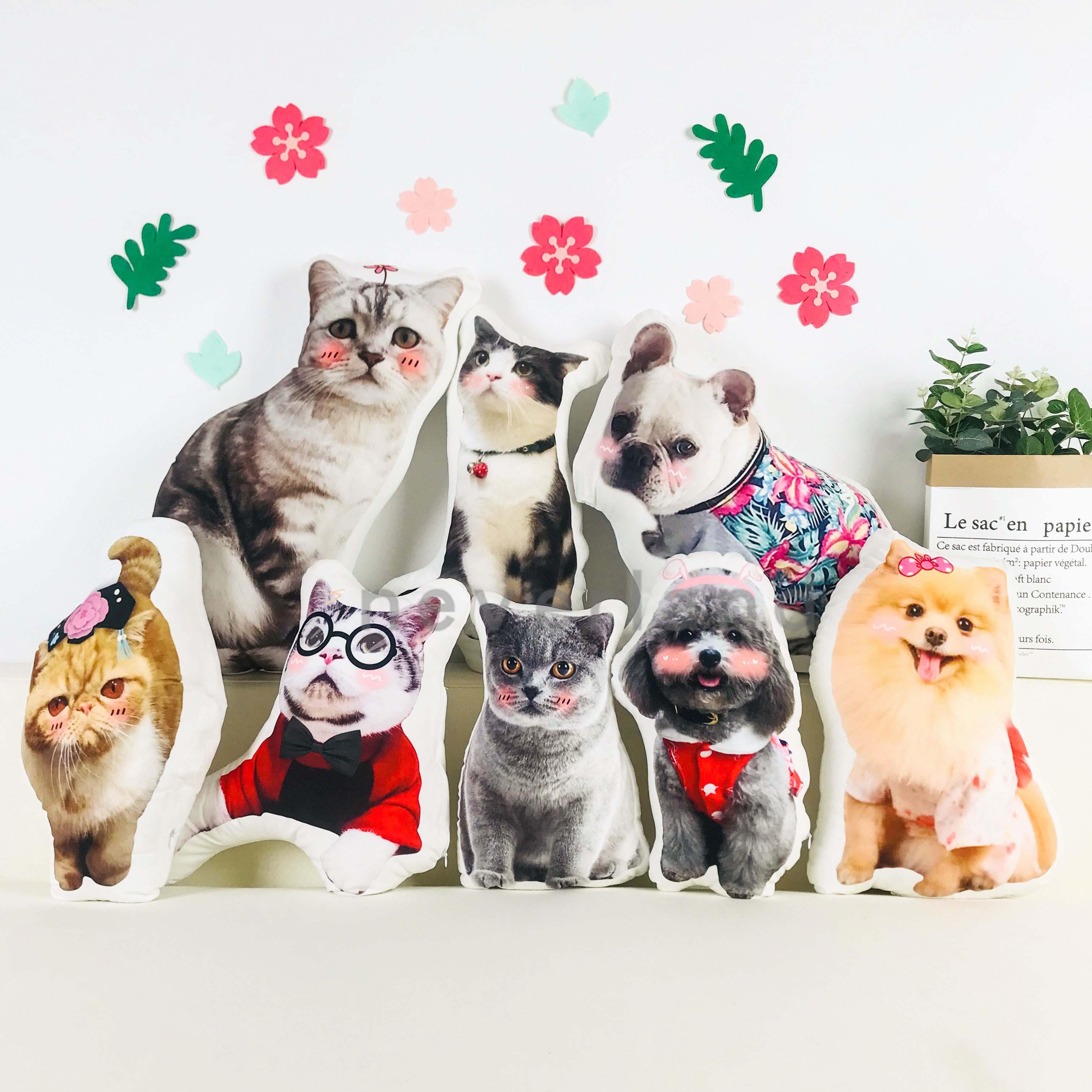 定制宠物异形抱枕来图定做猫咪照片diy狗狗纪念品订做动物抱枕