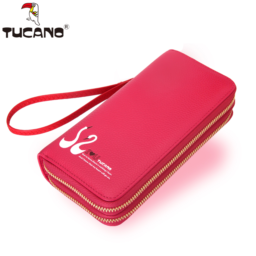 270680672e21 Woodpecker ladies wallet 2018 New cowhide women s long wallet double zipper  leather large capacity wrist bag · Zoom · lightbox moreview · lightbox  moreview ...