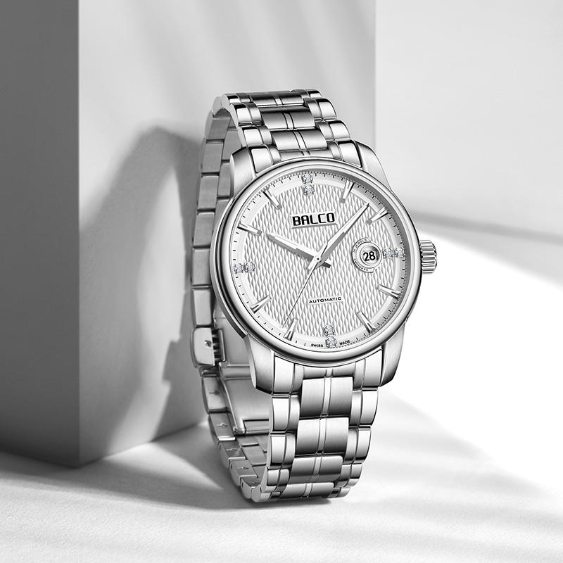 瑞士拜戈balco原装进口男表瑞士原装机械钢带表正品名牌腕表3496