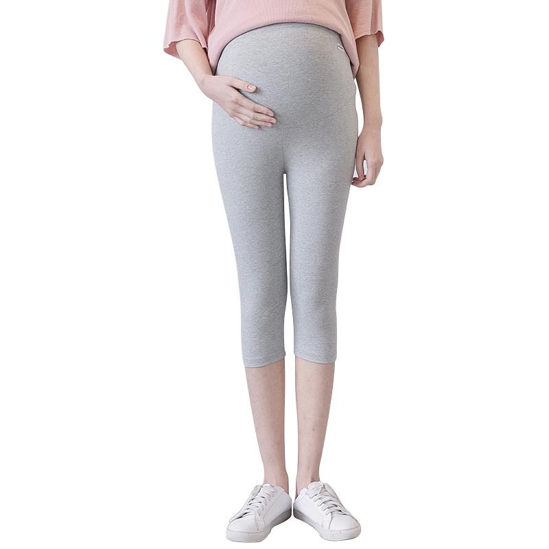 Phụ nữ mang thai quần mùa xuân và mùa hè mô hình mặc phần mỏng 2018 new 3-9 tháng chín điểm casual đáy dạ dày lift quần triều mẹ