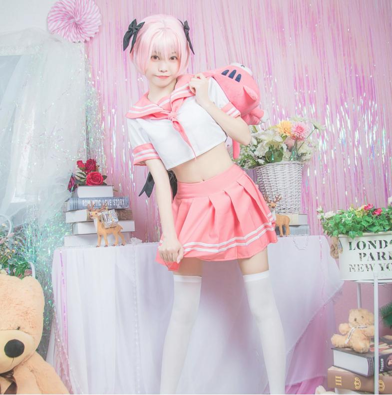 Fate//Apocrypha Astolfo JK Sailor suit Anime Cosplay Costume dress